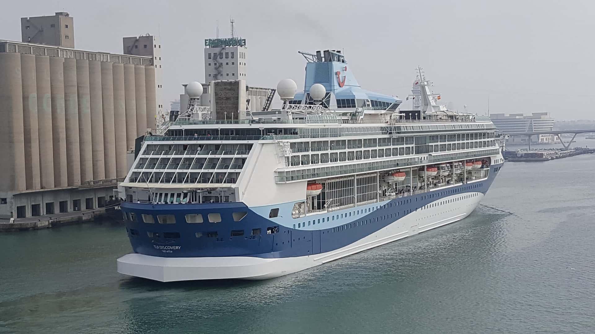 Marella Discovery ship in port