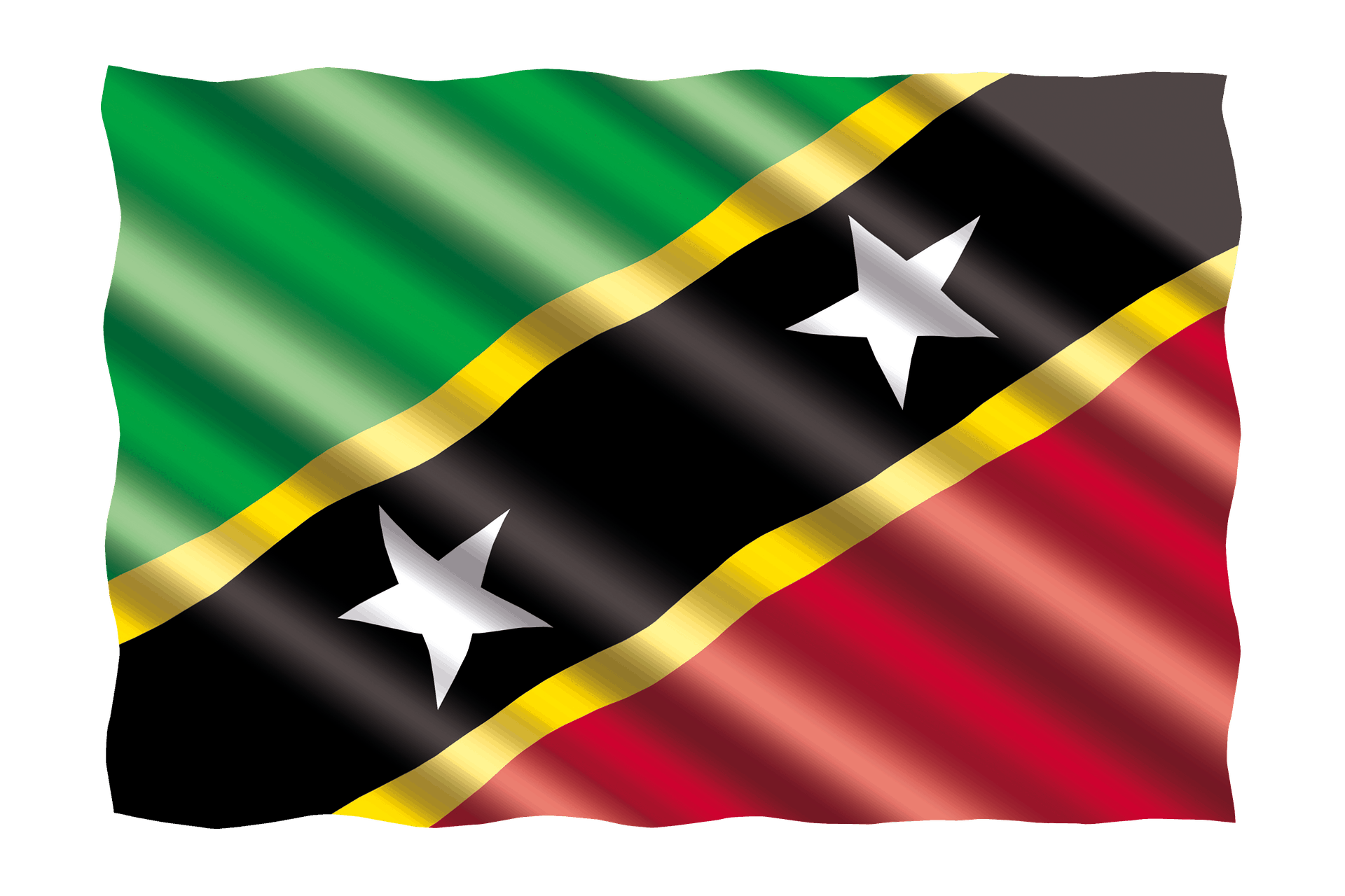 Basseterre, St Kitts Flag